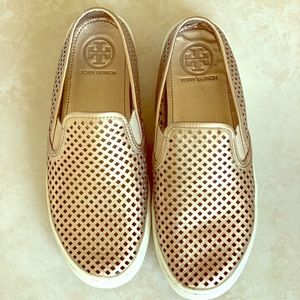 Tory Burch Jesse perforated sneakers Gold